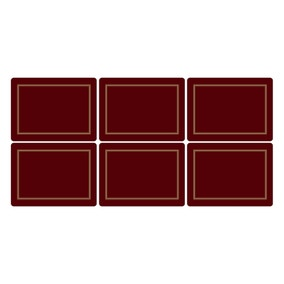 Pimpernel by Portmeirion Classic Burgundy Pack of 6 Placemats