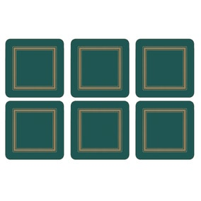 Pimpernel by Portmeirion Classic Emerald Pack of 6 Coasters