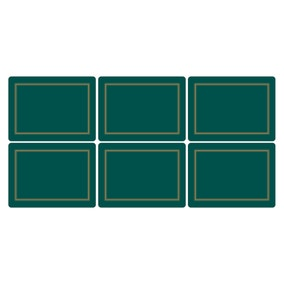 Pimpernel by Portmeirion Classic Emerald Pack of 6 Placemats