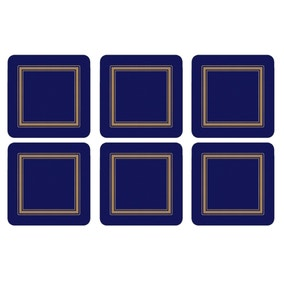 Pimpernel by Portmeirion Classic Midnight Pack of 6 Coasters