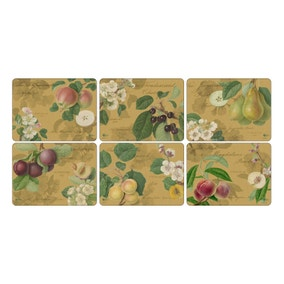 Pimpernel by Portmeirion Hooker Fruit Gold Pack of 6 Placemats