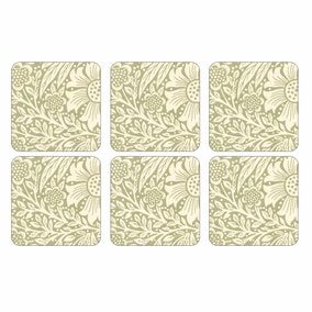 Pimpernel by Portmeirion Marigold Green Pack of 6 Coasters