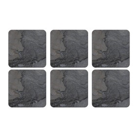Pimpernel by Portmeirion Midnight Slate Pack of 6 Coasters
