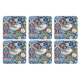 Pimpernel by Portmeirion Strawberry Thief Blue Pack of 6 Coasters