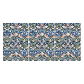 Pimpnel by Portmeirion Strawberry Thief Blue Pack of 6 Placemats