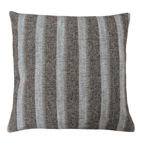 Large Addison Striped Natural Cushion