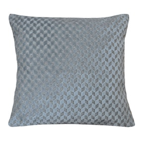 Geo Chevron Silver Cushion