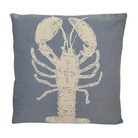 Blue Lobster Cushion