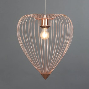 Yves Heart Copper Ceiling Fitting