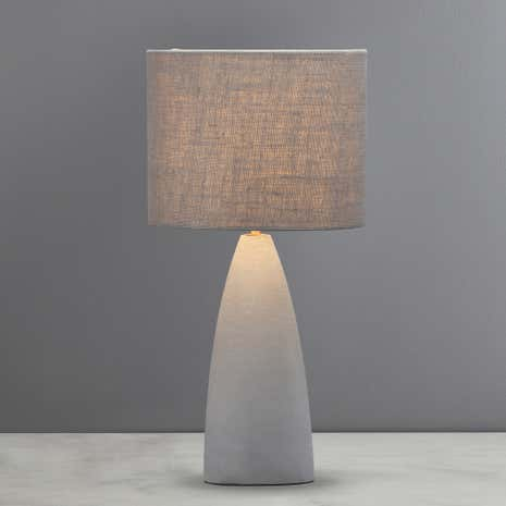 Avot coastal grey concrete table lamp dunelm avot coastal grey concrete table lamp mozeypictures Gallery