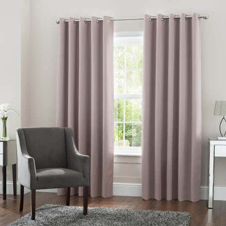 5A Fifth Avenue Venice Blush Blackout Eyelet Curtains