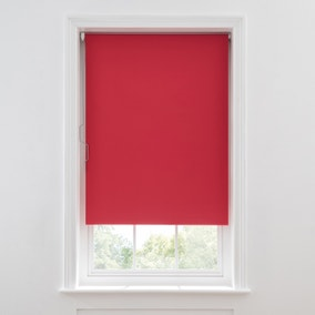 Red Blackout TwistSafe Roller Blind