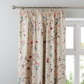 Botanical Meadow Floral Pencil Pleat Curtains
