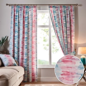 Briony Stripe Lined Pencil Pleat Curtains