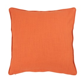 Orange Casual Slub Cushion