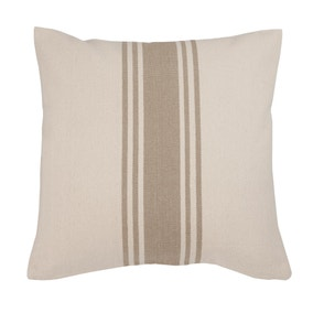 Coastal Natural Woven Stripe Cushion
