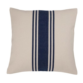 Coastal Navy Woven Stripe Cushion