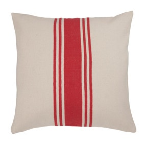 Coastal Red Woven Stripe Cushion
