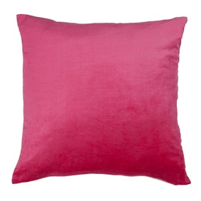 Large Cora Pink Velvet Cushion