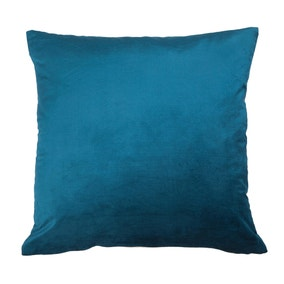 Large Cora Teal Velvet Cushion