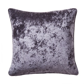 Large Crushed Velour Mauve Cushion