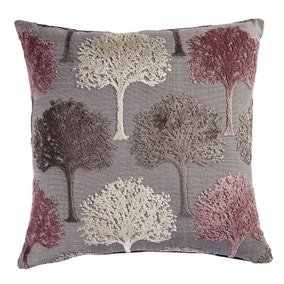 Mauve Cut Velvet Tree Cushion