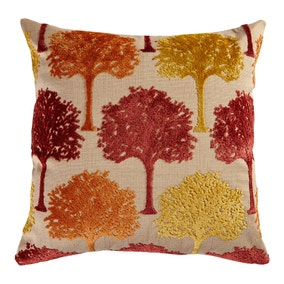 Terracotta Cut Velvet Tree Cushion