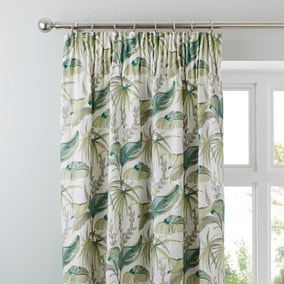 Dorma Palm House Green Pencil Pleat Curtains