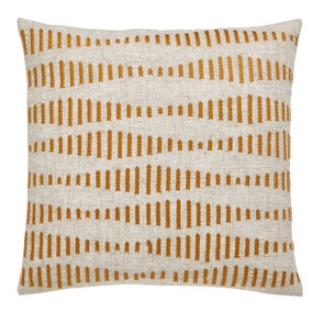 Elements Ochre Embroidered Arrow Cushion