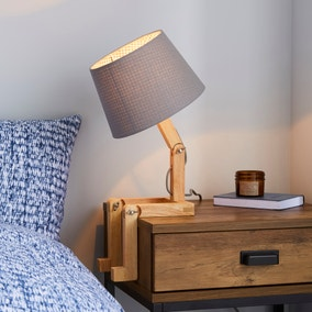 Elements Edgar Grey Table Lamp