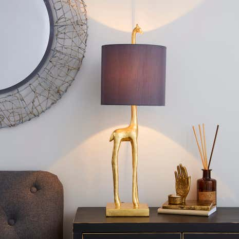 Table lamps bedside lamps desk lights dunelm elements malmo gold giraffe table lamp aloadofball Gallery