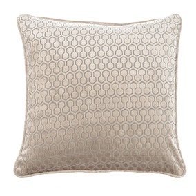 Geo Hexagon Gold Cushion