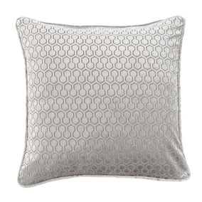 Geo Hexagon Silver Cushion