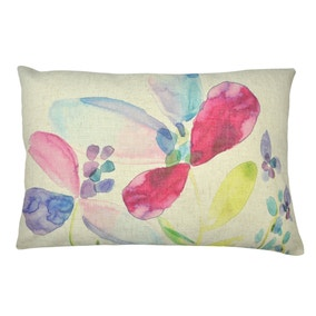 Impressionist Large Floral Rectangular Cushion