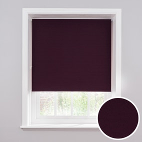 Luna Plum Blackout Roller Blind