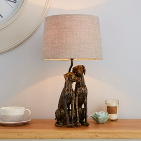 Murphy Antique Brass Dogs Table Lamp