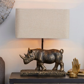 Rob Antique Brass Rhino Table Lamp