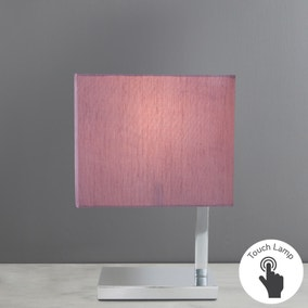 Rue PAD Mauve Touch Lamp