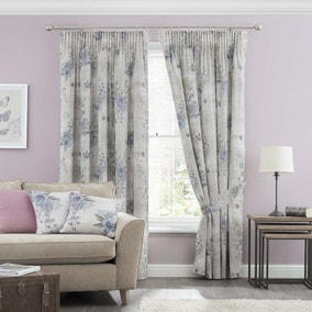 Sarina Mauve Pencil Pleat Curtains