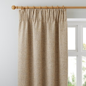 Thornton Ochre Pencil Pleat Curtains
