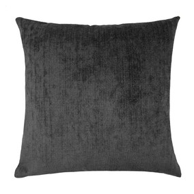Large Chenille Topaz Black Cushion Cover