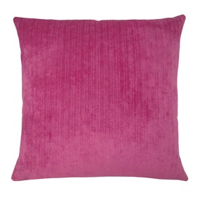 Large Chenille Topaz Fuchsia Cushion Cover