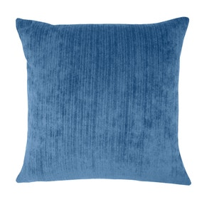 Large Chenille Topaz Navy Cushion Cover