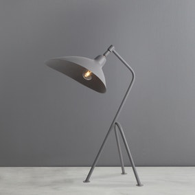 Vire Grey Table Lamp