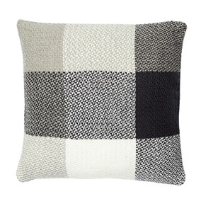 Woven Check Grey Cushion Cover