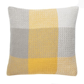 Woven Check Ochre Cushion Cover