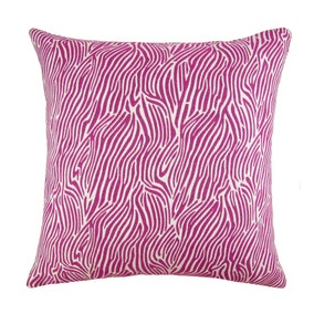 Fuchsia Zebra Cushion Cover