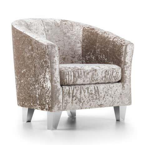 Mink Starlet Tub Chair Dunelm