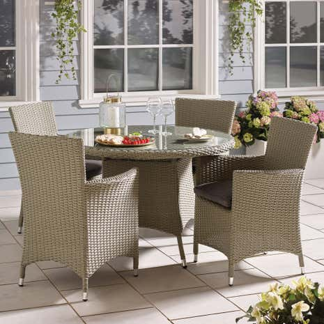 Cairo Grey 4 Seat Dining Set