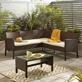 Gobi Brown 4 Seat Corner Sofa Set
